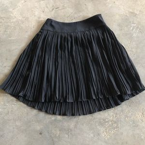Loft Pleated Black Skirt